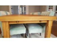 Harrods Oak Dining Table