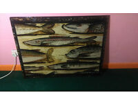 Unique Glass Tile, Fish Theme (could be used as pub/restaurant decor or window?)