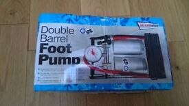 Foot pump nearly new