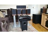 Complete 5.1 Home Theatre System (Q Acoustics 2000 series+Pioneer Sub Woofer+Denon AV Receiver)