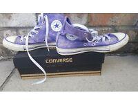 Converse boots purple size uk4