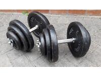 60KG YORK CAST IRON DUMBBELL WEIGHTS SET - 2 x 30KG