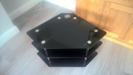 Black 2 Shelf TV Stand