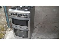 Cooker gas /electric inox - stainless steel, 50 cm