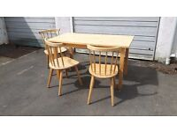 IKEA NORDEN Dining Table and Three Chairs