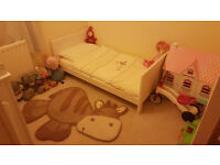 Mamas & Papas Coastline nursery furniture set; Cot bed, bookcase & chest of drawers with changer top