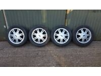 "Ford Fiesta Alloys, 14"" With Tyres & Correct Wheel Nuts"