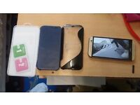 HTC ONE M8, 2 cases, 1 plastic screen protector