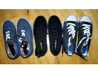 George Asda new, unworn shoes. 3 pairs kids size 2