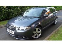 2008 AUDI A3 2.0TDI S-LINE 5 DOOR ENGINE REMAPPING 200BHP,TIMING BELT DONE!VERY GOOD COND.
