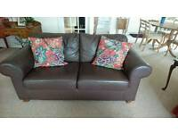 Two Seat Leather Sofas x Two