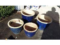 4 Planters frost resistant