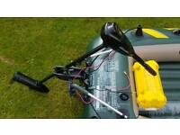 Nearly new boat dinghy with electric engine