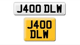 J400 DLW private cherished personalised personal registration plate numbeR