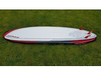 "Starboard Pro 9'8"" SUP board with windsurf Inserts for mast foot and foot straps."