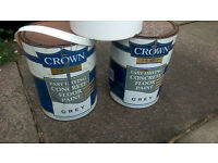 crown concrete floor paint...grey...5 litres