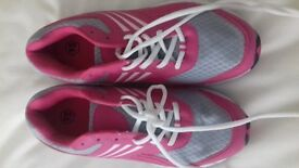 Ladies pink & Grey Trainers size 7
