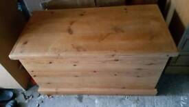 Solid Waxed Pine Bedding Box/Storage