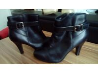 Ladies Black Ankle Boots - size 4 - immaculate - never worn