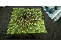 IKEA GREEN WILD FLOWER PRINT CANVAS 60 x 60cm