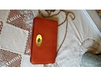 Mulberry Bayswater clutch in Peony pink, barely used