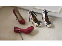 Womens size 4 shoes and heels