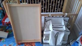 Cot with changing board and matress