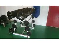 Dumbbell Set with Bars and Rack