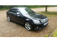 2008 MERCEDES C180 SPORT KOMPRESSOR 6 SPEED, MET BLACK, FULL MOT