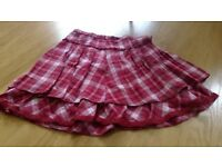 Red Checked Skirt