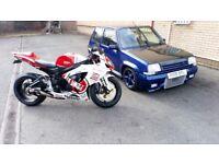 Suzuki gsxr 600 k7 (very low miles, not cbrr zxr daytona r1 r6)