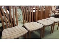 Set Of 4 Dining Chairs Upholstered In A Tarta Fabric