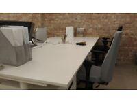 Desks for rent in office