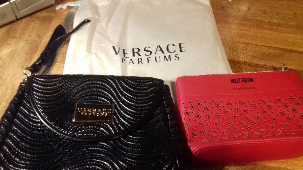 f7265d07b5 NEW Versace Black Bag Purse and Holly Fulton by Elizabeth Arden cosmetic bag