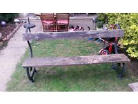rare cast iron bench