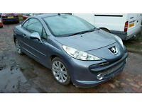 Peugeot 207 1.6hdi 2008 reg convertable breaking for parts