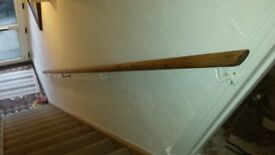 Long Pine Stair Handrail For Sale With Fittings