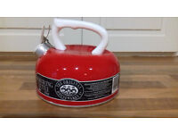 top quality brand new never been used red whistling kettle 3pint 1.7litre for gas & electric hobs