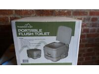 Freedom Trail, portable flush toliet with Thetford Kem and Rinse pack
