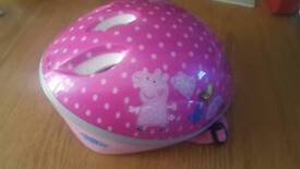 Peppa pig first bike helmet