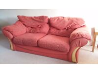 FREE 3 seater sofa & 2 matching armchairs