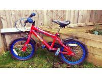 "Spiderman bike bicycle 16"" wheels Boys/Child/Kids"
