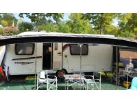 Caravan awning and sun canopy size 14 blue