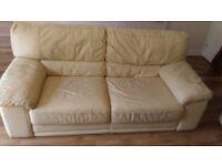 2 Seats Leather Sofa - FREE