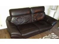 Italian leather suite-£250-Open To offers
