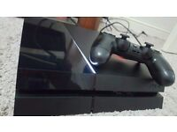 PS4 (PlayStation 4) console 500gb - good condition with game
