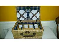 BRAND NEW WICKER PICNIC BASKET