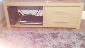 Oak display & tv unit