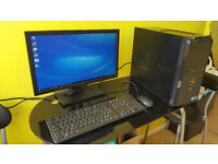 Dell Vostro i3 Workstation PC Monitor + Keyboard & Mouse & Windows 10