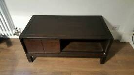 Dark wood tv cabinet